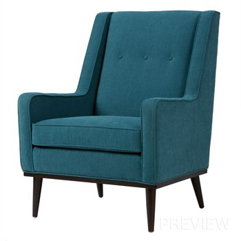 Ally Accent ChairAccent Chairs   Chaises  Wholesale Olliix. Aqua Leather Accent Chair. Home Design Ideas