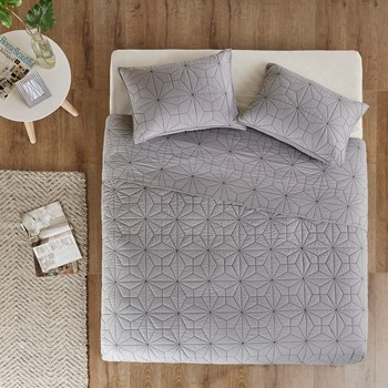 Caden 3 Piece Cotton Coverlet Mini Set