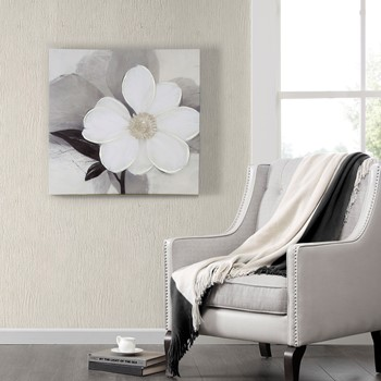 Wall Art Designer abstract wall design Midday Bloom Canvas With Hand Embellishment