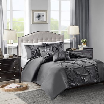 Mia Velvet 5 Piece Duvet Cover Set
