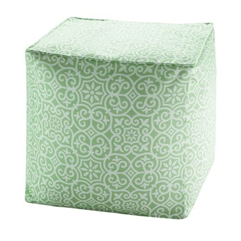 Aptos Printed Fret 3M Scotchgard Outdoor Pouf