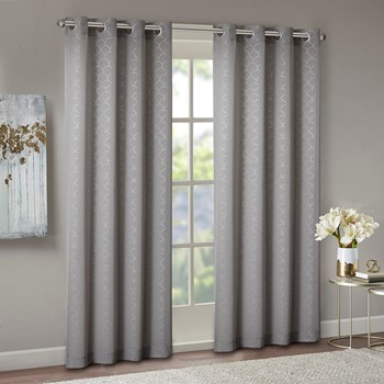 Trinity Foil Printed Scallop Window Sheer