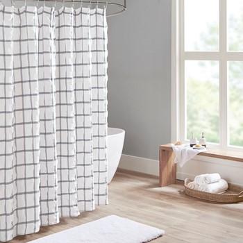 Kinney Yarn Dyed Seersucker Shower Curtain