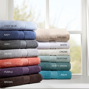 800GSM 100% Cotton 8 Piece Towel Set