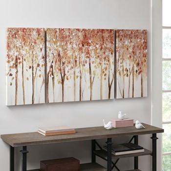 Autumn Forest 3 Piece Canvas Art Palette Knife Embellishment