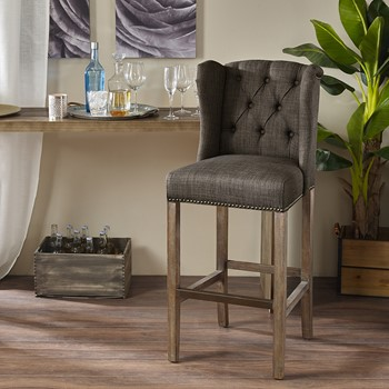 "Jodi Tufted Wing 30"" Bar Stool"