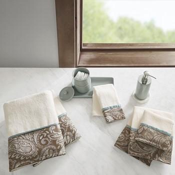 Aubrey 6 Piece Jacquard Towel Set