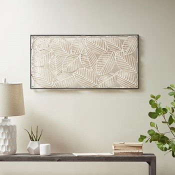 Paper Cloaked Leaves Paper Cloaked Wall Decor Metal Frame