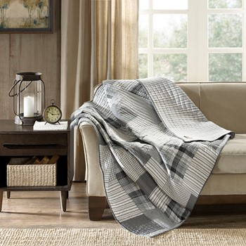 Riverview Oversized Cotton Quilted Throw