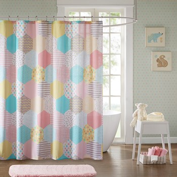 Trixie Cotton Printed Shower Curtain