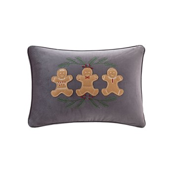 Holiday Gingerbread Oblong Dec Pillow