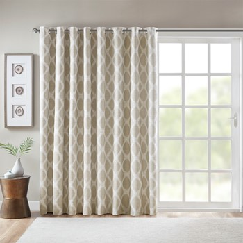 Blakesly Printed Ikat Blackout Patio Curtain