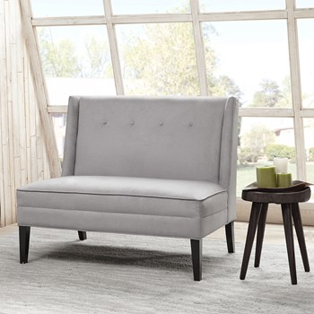 Jensen Button Tufted High Back Settee