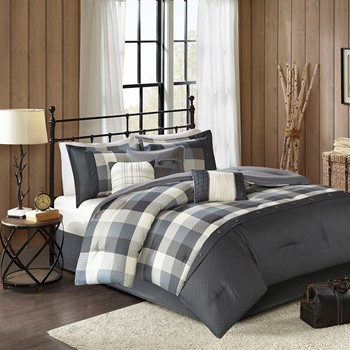 Ridge 7 Piece Herringbone Comforter Set