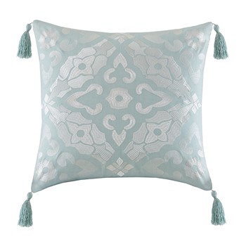 Lagos Embroidered Square Pillow