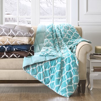Oversized Ogee Down Alternative Throw