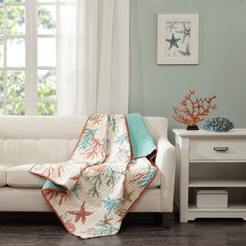 Pebble Beach Oversized Cotton Quilted Throw