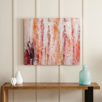 Passion Coral Gel Coat Canvas With Palette Knife