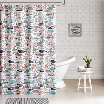 Sardinia Cotton Printed Shower Curtain