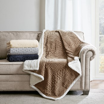 Camilla Textured Plush Throw