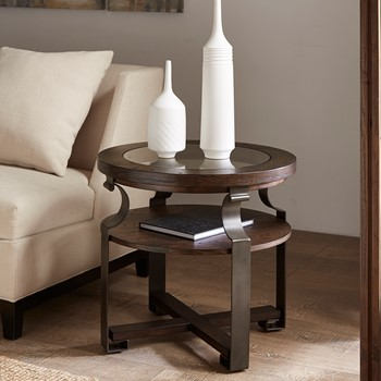 Forge Round End Table