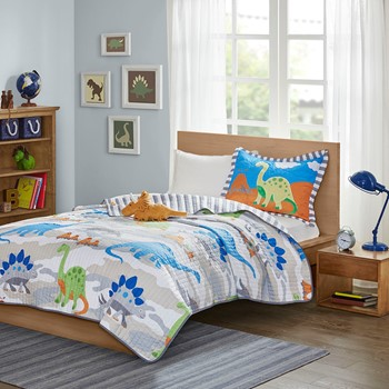 Little Foot Dinosaur Reversible Coverlet Set