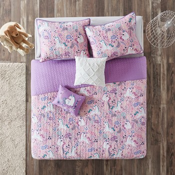Lola Cotton Reversible Coverlet Set