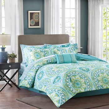 Serenity Complete Comforter and Cotton Sheet Set