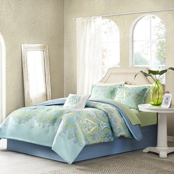Celeste Complete Comforter and Cotton Sheet Set