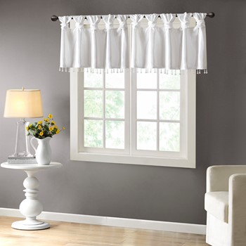 Emilia Lightweight Faux Silk Valance With Beads