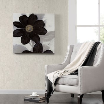 Midnight Bloom Canvas With Hand Embellishment
