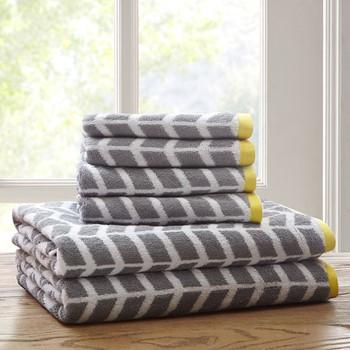 Nadia 6 Piece Cotton Jacquard Towel Set
