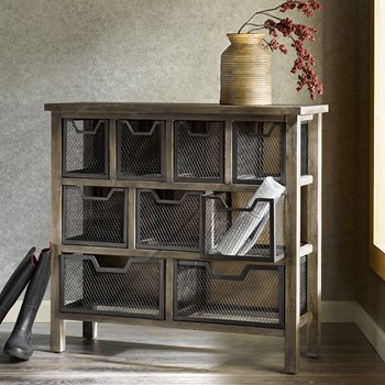 Cirque Metal Bin Console Table