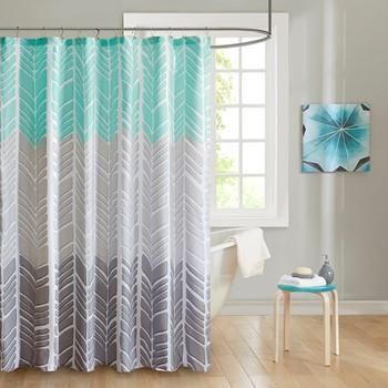 Adel 100% Microfiber Printed Shower Curtain
