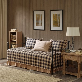 Buffalo Check 5 Piece Day Bed Cover Set