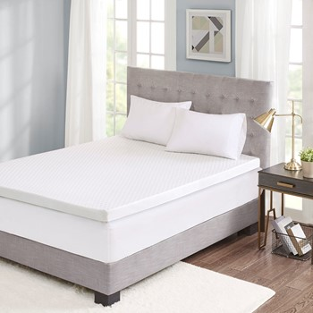 """Hypoallergenic 3"""" Cooling Gel Memory Foam Mattress Topper with Removable Cooling Cover"""