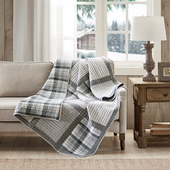 Huntington Oversized Cotton Quilted Throw