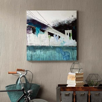 Abstracted City Gel Coat Printed Canvas