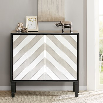 Libby Chevron Mirror Accent Chest