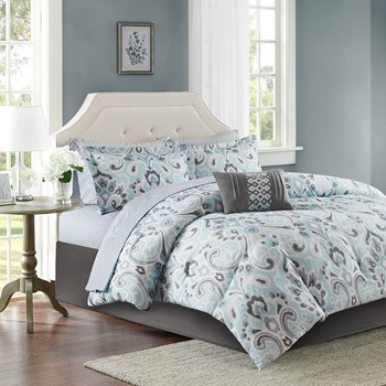 Sandra Complete Comforter and Cotton Sheet Set