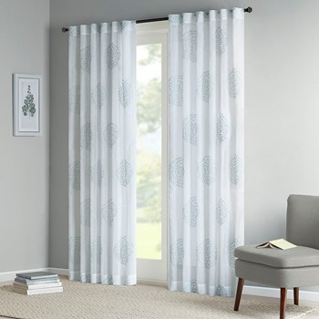 Genia Sheer Branch Flocking Window Curtain
