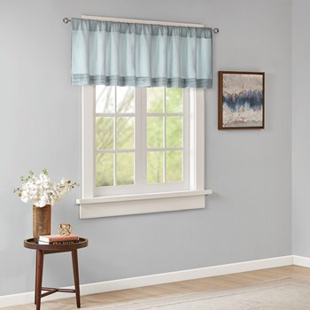 Emily Faux Silk Solid Pleated Valance