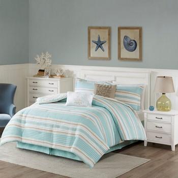 ocean reef 6 piece quilted comforter set - Harbor House Bedding
