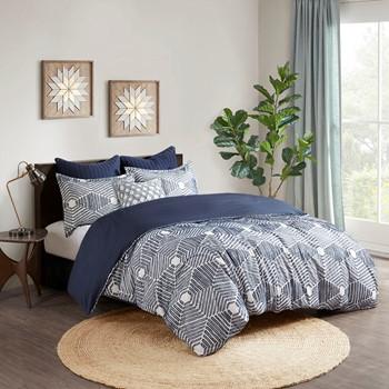 Ellipse Cotton Jacquard Duvet Cover Set