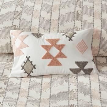 Zara Cotton Embroidered Oblong Pillow