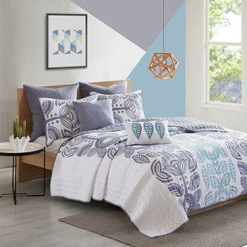 Kiri 7 Piece Cotton Coverlet Set