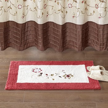 Serene Embroidered Cotton Tufted Rug