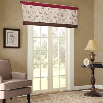 Serene Embroidered Window Valance