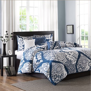 Vienna 6 Piece Printed Duvet Cover Set