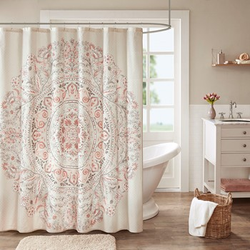 Elise Cotton Printed Shower Curtain